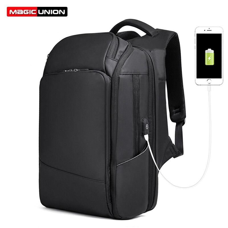 Sac à dos de Style d'affaires de l'union magique pour les hommes sac à dos de 17 pouces grands sacs de voyage mode Mochila Hombre femmes sacs à dos d'ordinateur portable USB