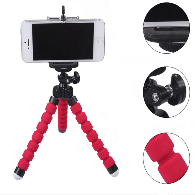 Essien Phone Holder Flexible Octopus Bracket Tripod Selfie Expanding Stand Mount Styling Accessories For Mobile Phone Camera