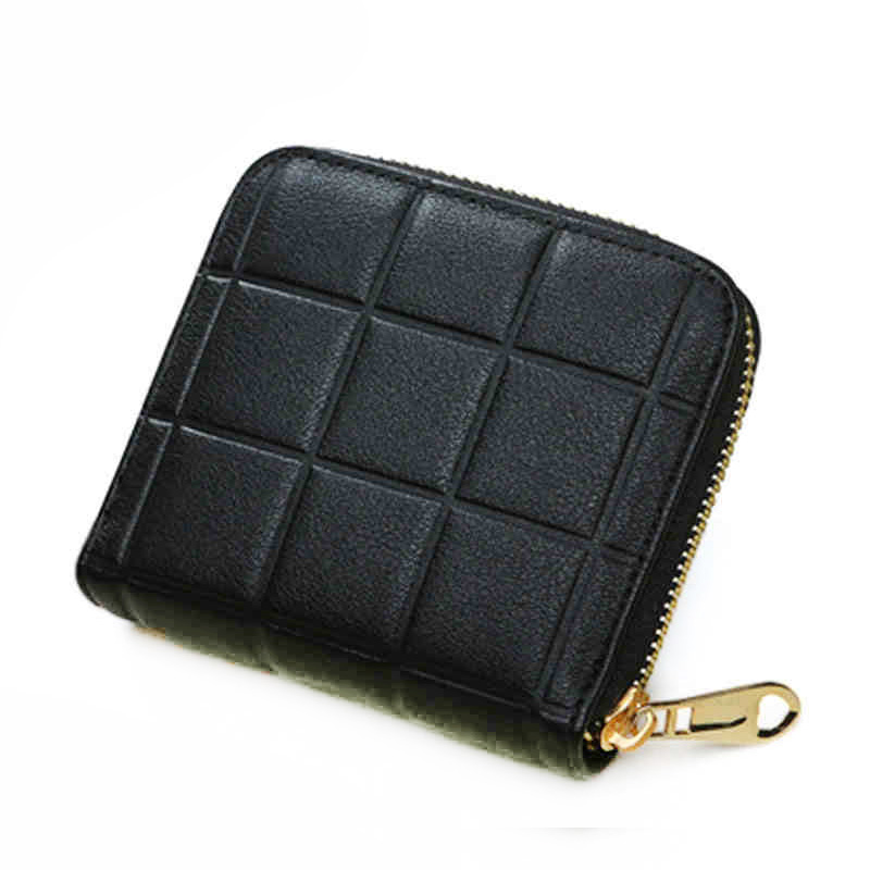 Fashion Small Plaid Women Wallet and Purses Short Zipper Wallet for Coin with Card Holder Female Money Bags Pink Lovely Style lovely new style wallet women short girls purses card holders wallet long solid with inlaid pearls pattern wallet designer500862