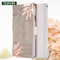 YESPURE Diamond Fancy Flip Leather Phone Covers For Iphone 6 6s Card Pocket Mobile Phone Accessories