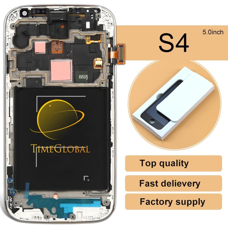 ФОТО 2pcs Mobile Phone LCD 100% new For Samsung S4 IV i9500 i9505 i337 i545 i9506 LCD Screen Digitizer +Frame assembly freeshipping