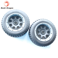 King Motor Baja T1000 Buster wheel tire tyre set(Front) for HPI BAJA 5T Parts Rovan Free Shipping