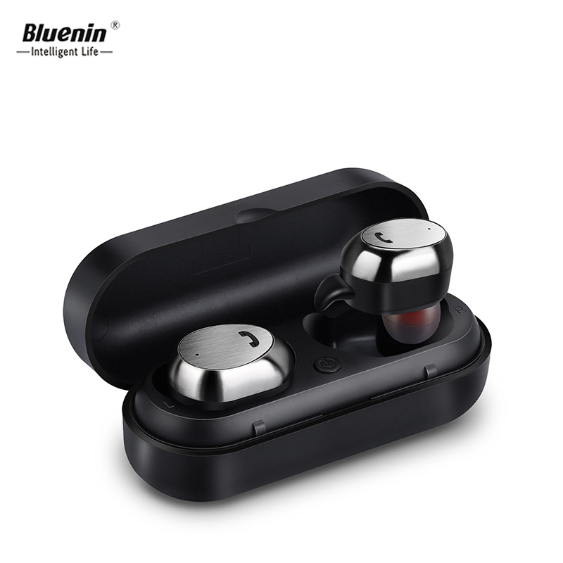 Bluenin M9 TWS Bluetooth Earphone True Wireless Earbuds Stereo Bluetooth Headset Mini Handsfree Music Sport Earphone with mic luoka new wireless stereo bluetooth headset music headphone sport bluetooth earphone handsfree in ear earbuds mp3 media play