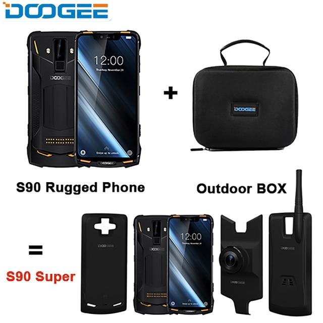 DOOGEE S90 スーパーボックス頑丈な携帯電話の 6.18 インチ IP68/IP69K エリオ P60 オクタコア 6 ギガバイト 128 ギガバイト 3 余分なモジュール携帯電話