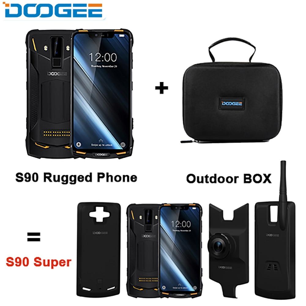 DOOGEE S90 Super Box Rugged Mobile Phone 6.18inch Smartphone IP68/IP69K Helio P60 Octa Core 6GB 128GB 3 Extra Module Cellphone