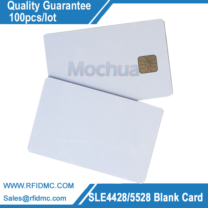 ISO7816 PVC SLE 4428 Contact IC card  Smart IC Card 30mil Glossy 200pcs fm4428 iso7816 contact ic card contact smart card for social security