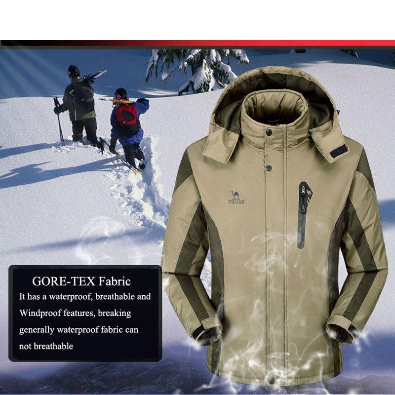 Combinaison de Ski hommes Ski et Snowboard ensembles Super chaud imperméable coupe-vent Snowboard polaire veste + pantalon hiver neige costumes homme - 5