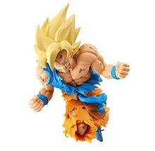 NOVA 19 cm Dragon Ball Super saiyan Goku Kakarotto Choque brinquedos Action figure boneca de presente de Natal com caixa(China)