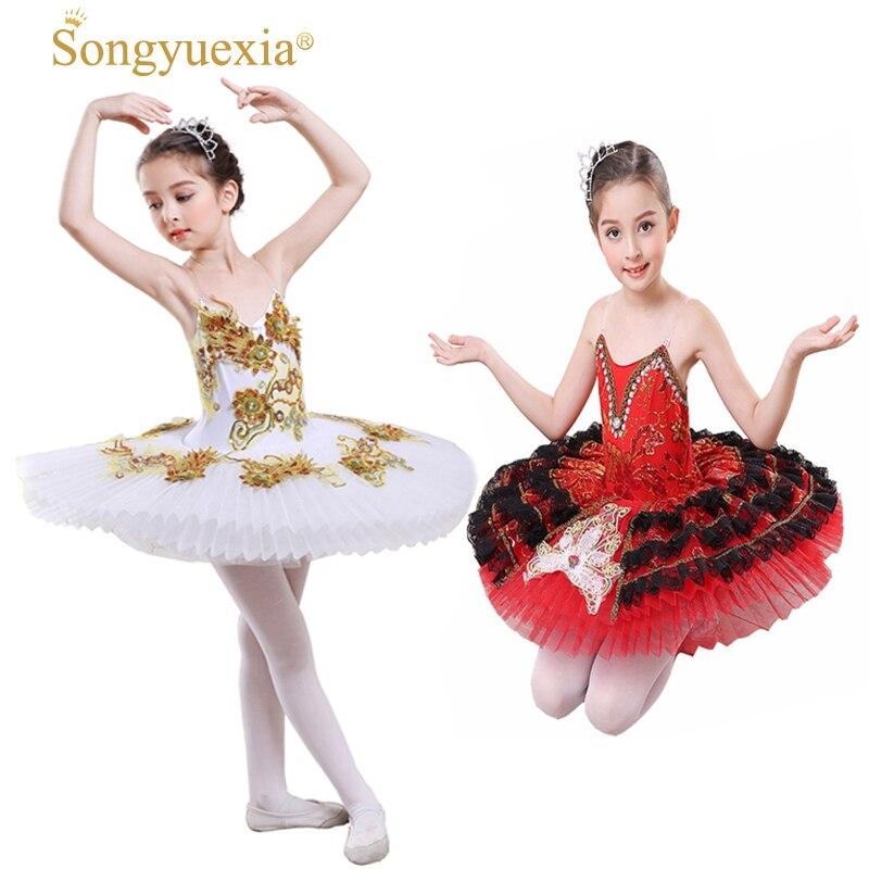 SONGYUEXIA Children Ballet Camisole skirt Kid professional ballet tutu Skirt Children Paillette Major Ballet dance TUTU dress