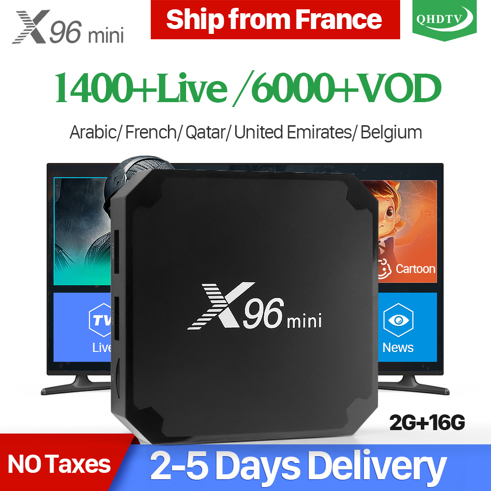 X96 mini IPTV Francia Box Astuto di Android 7.1 S905W 2 gb 16 gb 1 Anno di QHDTV Codice IPTV Belgio Paesi Bassi francese Arabo IPTV Box