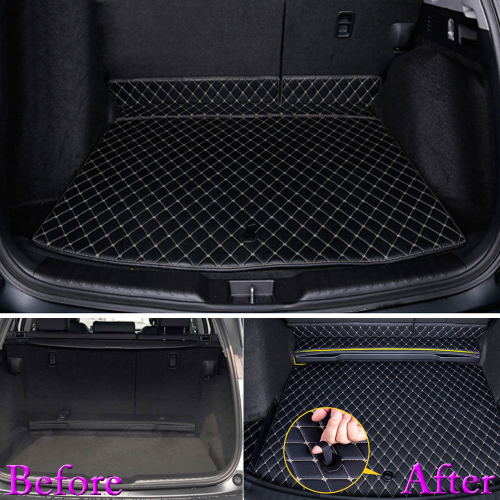 For Honda CRV CR-V 2017 2018 Auto Trunk Liner Rear Cargo Boot Mat 3D Floor Tray Carpet Mud Pad Waterproof Protector Car Styling custom fit car trunk mat for cadillac ats cts xts srx sls escalade 3d car styling all weather tray carpet cargo liner waterproof