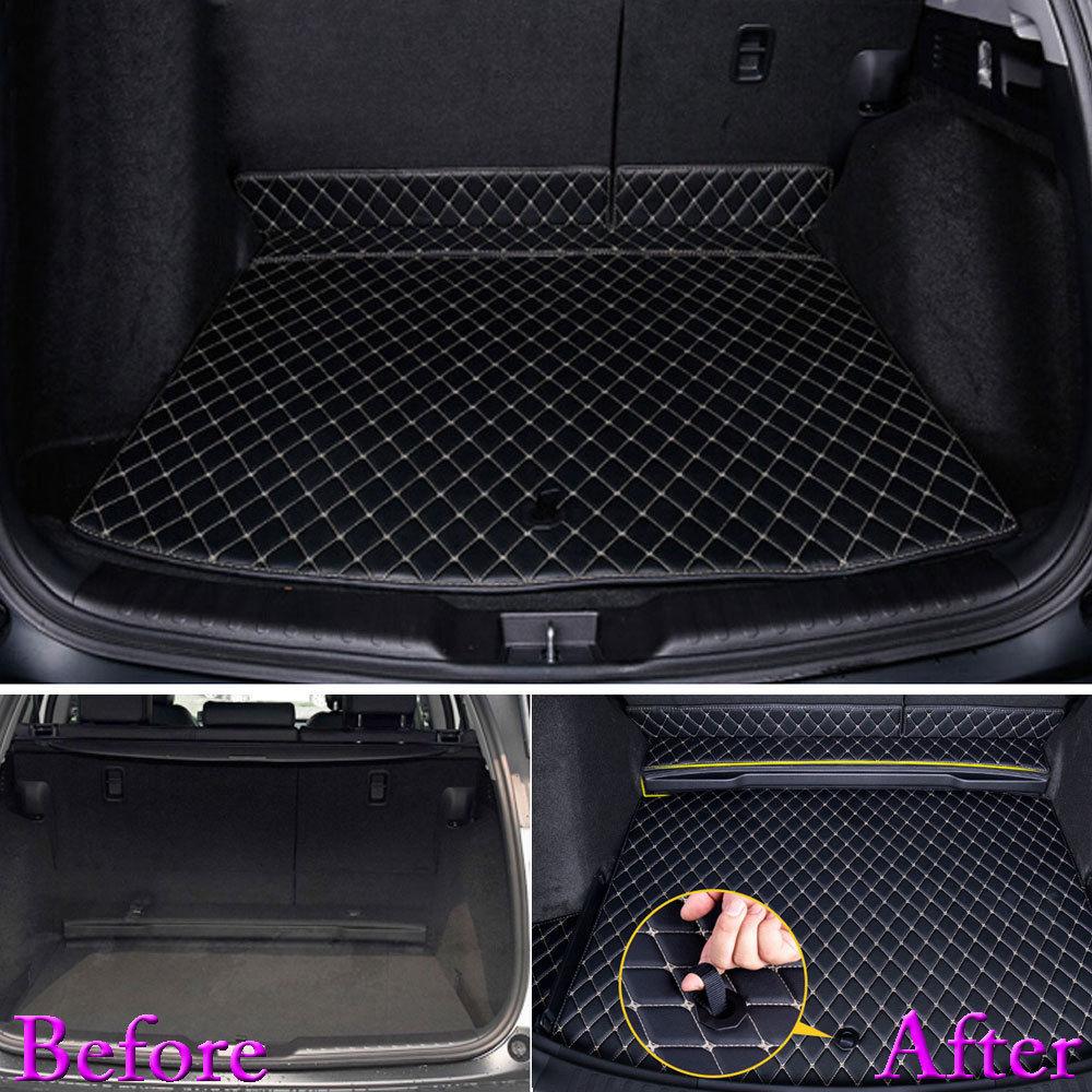Pour Honda CRV CR-V 2017 2018 Auto coffre Liner arrière Cargo tapis de démarrage 3D plancher plateau tapis boue Pad étanche protecteur voiture style