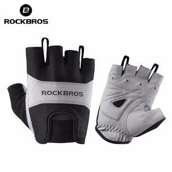 ROCKBROS перчатки для велоспорта, короткие перчатки для велосипеда, дышащие перчатки для горной дороги, мужские спортивные перчатки, одежда для...