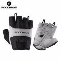 ROCKBROS Cycling Gloves Half Short Finger Bike Gloves Breathable Mountain Road Bicycle Men Sport Gloves Cycling