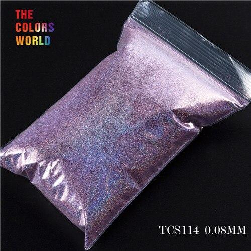 TCT-070 голографическая цветная устойчивая к растворению блестящая пудра для дизайна ногтей Гель-лак для ногтей тени для макияжа - Цвет: TCS114  200g