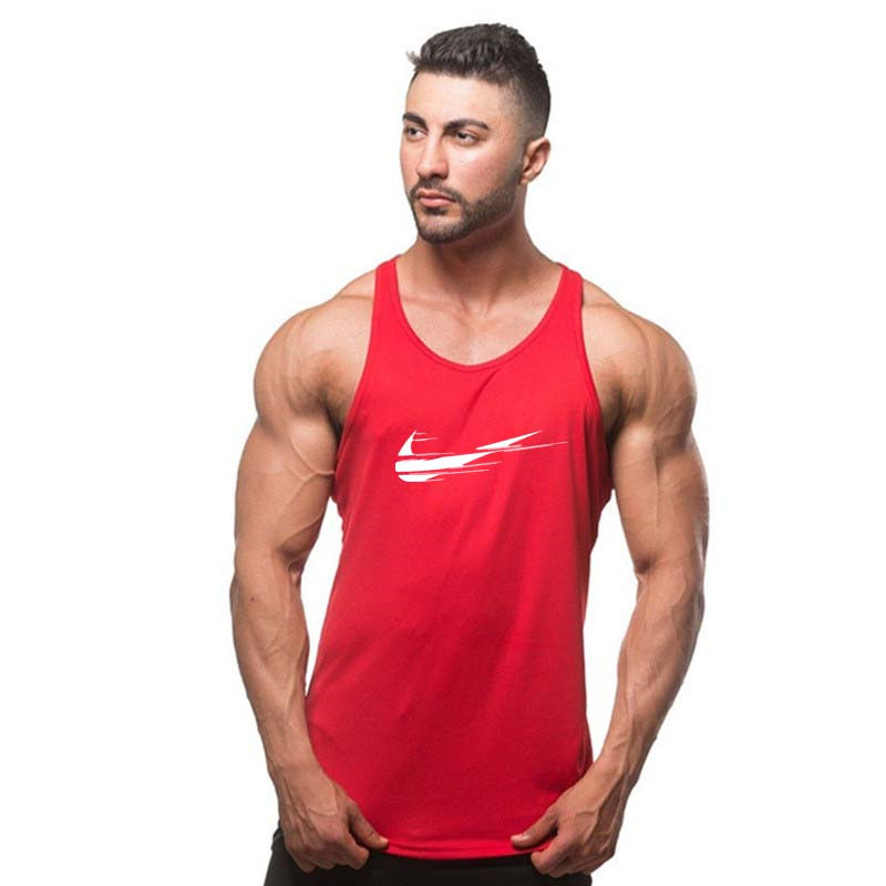 New brand Men cotton printing Bodybuilding and Fitness Men's Muscle ShirtSinglets   Tank     Top   Shirts gyms Clothes Sportswear Vest