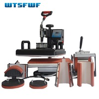 Wtsfwf New 30*38CM 7 in 1 Combo Heat Press Printer Machine Sublimation Transfer Printer for Cap Mug Plates T-shirts