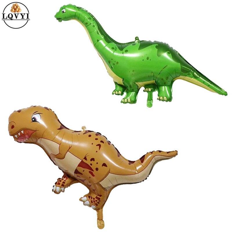 50 ชิ้นขนาดใหญ่บอลลูนไดโนเสาร์การ์ตูน Tyrannosaurus Rex บอลลูนสำหรับทารกฝักบัววันเกิดสัตว์ป่าตกแต่ง Globos-ใน ลูกโป่งและเครื่องประดับ จาก บ้านและสวน บน   1