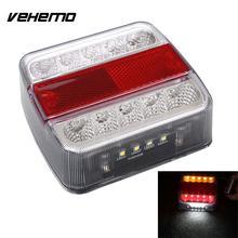 Vehemo 12V 10 LED Truck Car Trailer Boat Caravan Rear Tail Light Stop font b Lamp