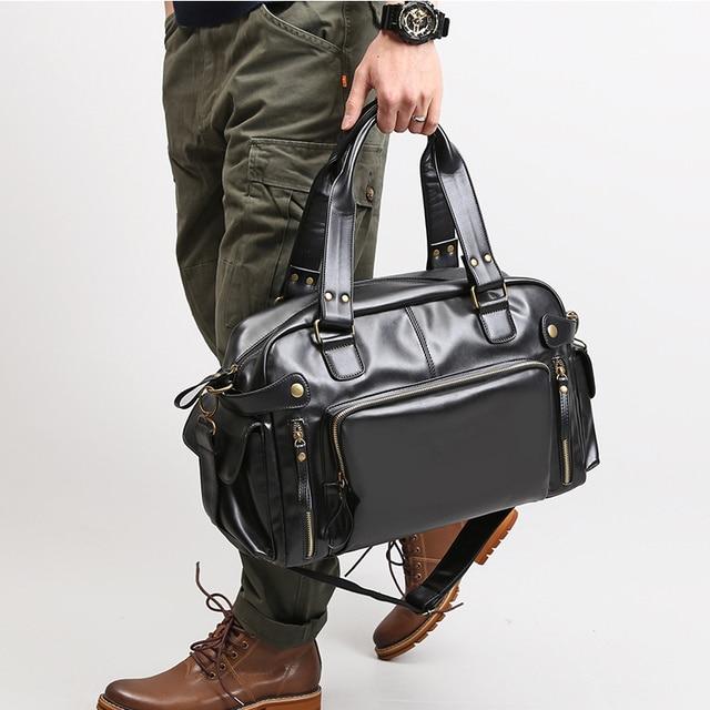 Male Bag England Retro Handbag Shoulder Bag Leather Men Big Messenger Bags Brand High Quality Men's Travel Crossbody Bag XA158ZC 2