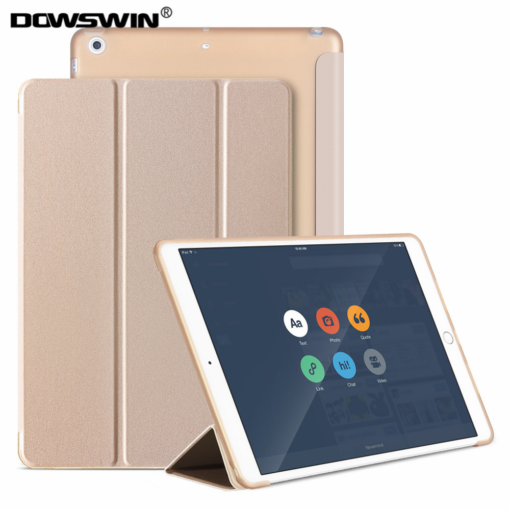 For iPad Air Case PU Leather Smart Case for iPad Air 1 Soft Cover For iPad 5 With Magnetic Auto Wake Up Sleep TPU Back cover protective flip open pu leather case w auto sleep for ipad air deep blue