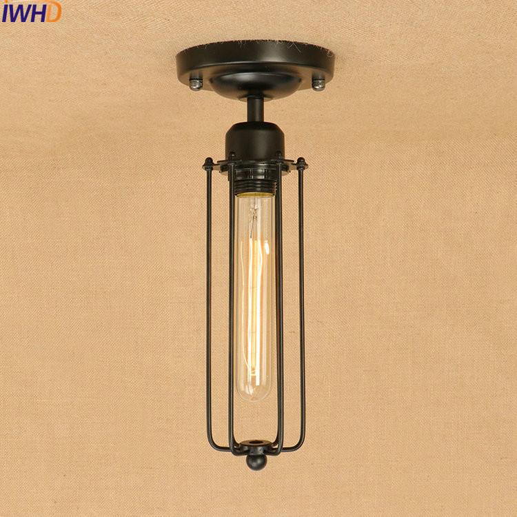цены IWHD Edison Loft Style Iron Vintage Ceiling Light Fixtures Industrial Ceiling Lamps Antique Home Lighting Lustres De Sala