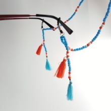 2019 new design eyeglass bead chain with china knot fringe spectacle pendant