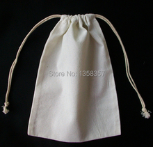 100pcs/lot CBRL cotton jewelry pouches 7*9cm gift bags cotton drawstring bags small dust bags for jewelry storage packaging