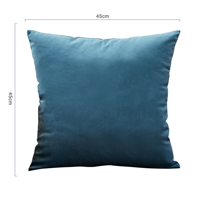26colors Pillow Cover Velvet Cushion Cover For Living Room Sofa 45*45 Kussenhoes Blue Home Decorative Housse De Coussin 6