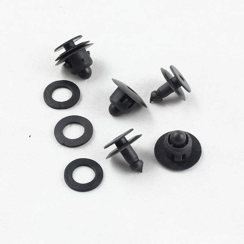 KELIMI новая черная пластиковая клипса крепежа панели автомобильной двери фиксаторы для Nissan автомобильные аксессуары