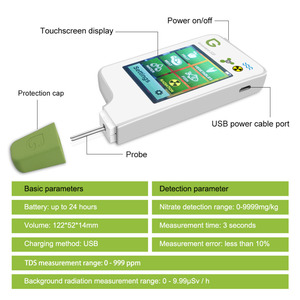 Image 5 - Portable nitrate water and radiation detector for Food, Meat, Fish Nitrate Tester, water TDS, Radiation Detector/ Health Care