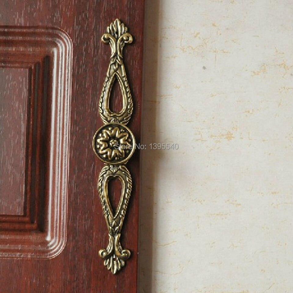 New Antique Cabinet Hanle Euro-Style Furniture Bronze Knob Creative Cupboard Closet Drawer Handle Pull Bars hardware knobs