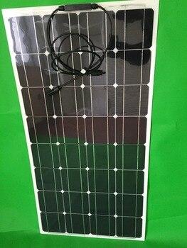 Lowest Factory Price 100W flexible solar panel; semi solar panel 100W;  solar cell 125*125mm; solar panel 12V