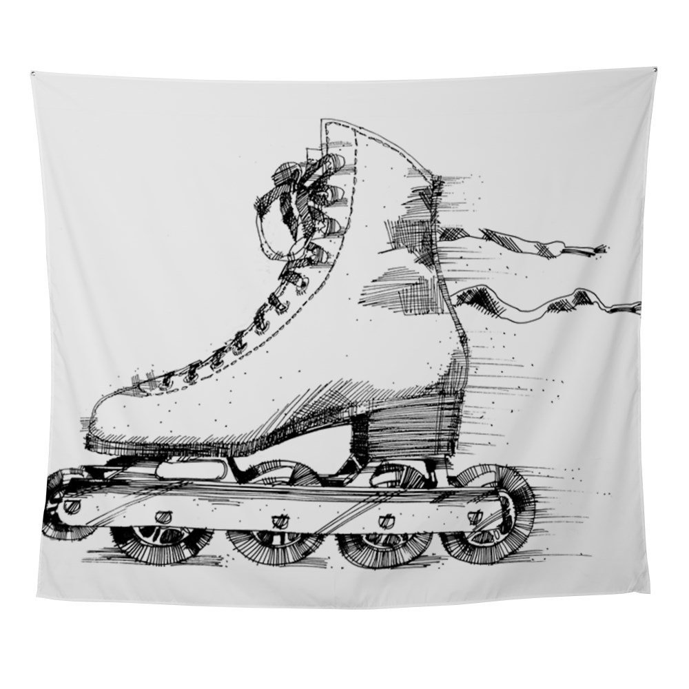 Bulk Skate Towels: Inline Figure Skate Wall Tapestry Wall Hanging Beach Towel