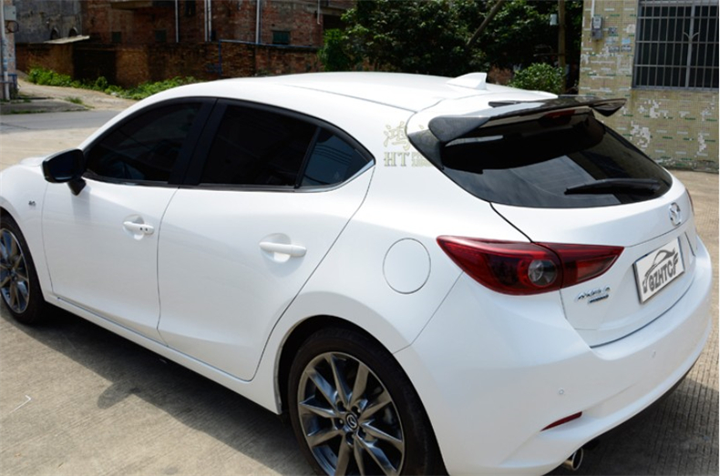 Carbon Fiber & ABS <font><b>Spoilers</b></font> For <font><b>Mazda</b></font> <font><b>3</b></font> AXELA Hatchback 2014 2015 2016 2017 <font><b>2018</b></font> 2019 High Quality Wing <font><b>Spoiler</b></font> Accessories image