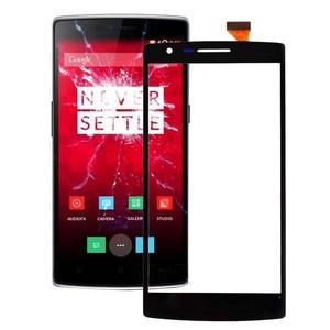Image 1 - Para OnePlus One Replacemen LCD pantalla táctil de cristal digitalizador 1 + un Color negro pantalla táctil Out Lens