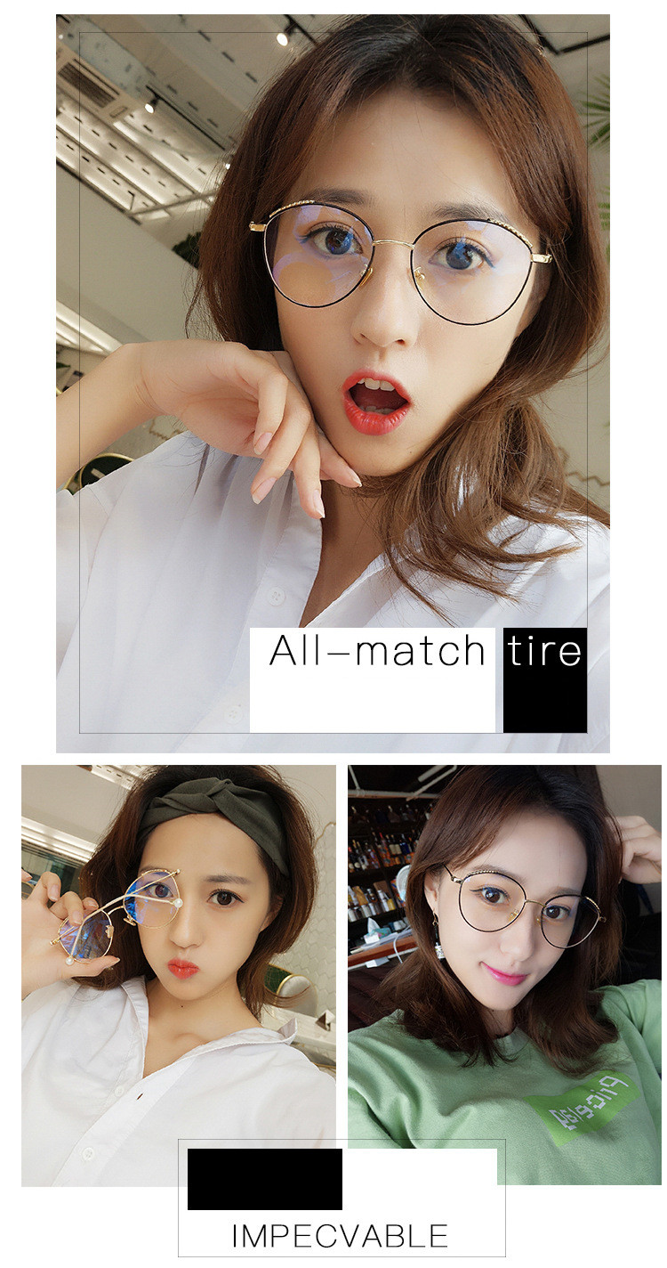Men's Eyewear Frames Ntalkia Brand Round Vintage Glasses Frame Optical Glasses Frames For Women Big Gold Eyeglass Spectacle Frames Designs Pearl Leg Apparel Accessories