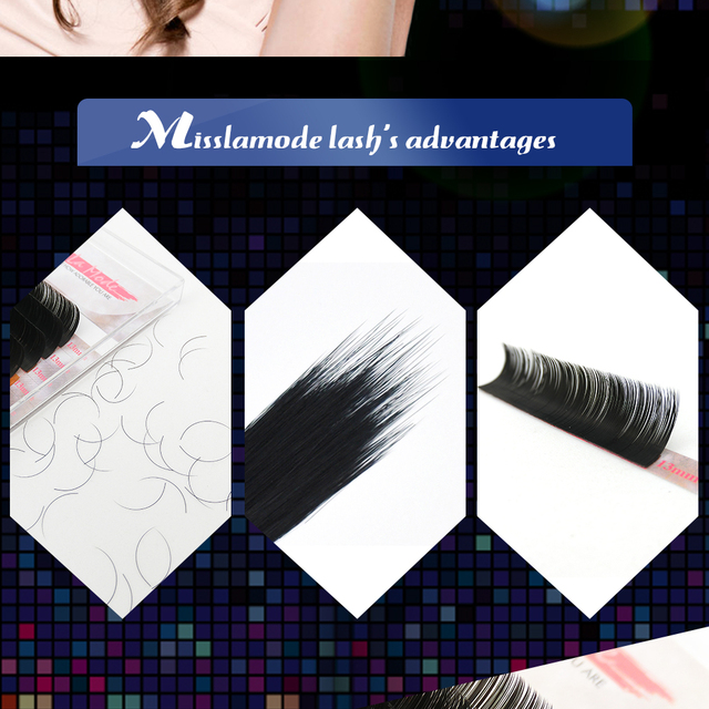 Misslamode 16Rows  individual  eyelashes extension supplies False professional mink  Eyelashes Extensions Lashes materials 2
