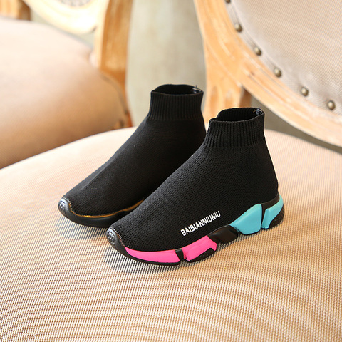 2019 spring new outdoor kid shoes breathable flat boys girls school Non-slip Net cloth casual shoes sneakers 1-15 years old Karachi