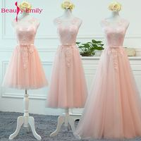 Beauty Emily Bridesmaid Dresses 2017 A Line Off The Shoulder Appliques Lace Up Formal Party Prom