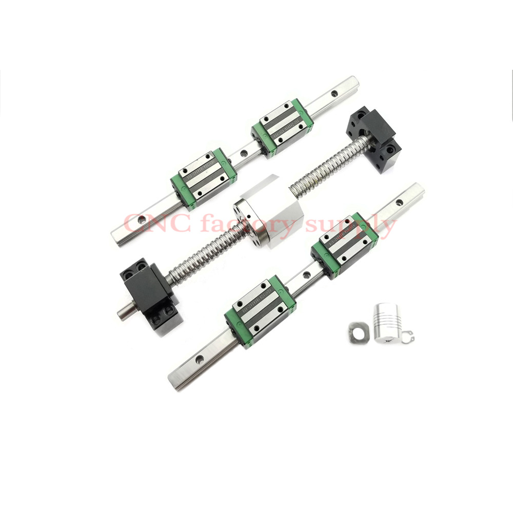 Hot sale 3D print parts CNC router SFU1605-L-950mm 1000mm ballscrew set+HGR15 linear rail+HGH15CA carriage or HGW15CA block цена
