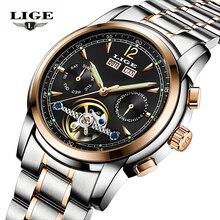 Relojes Hombre LIGE Люксовый Бренд Мужские Автоматические механические Часы Мужчины Повседневная мода бизнес Часы мужчины Relogio Masculino