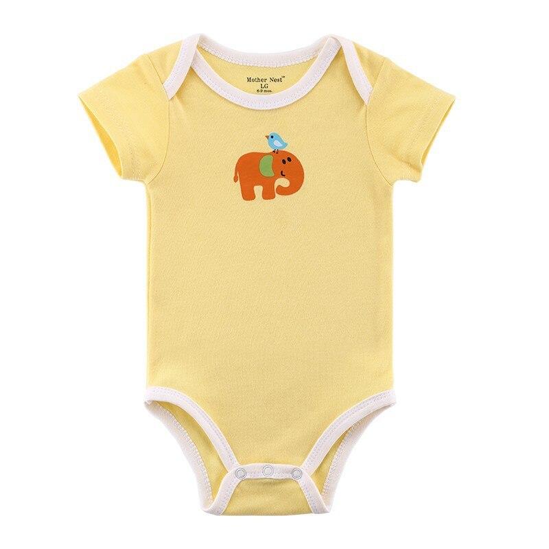 Nieuwe baby rompertjes met korte mouwen Zuigeling Cartoon kleding - Babykleding
