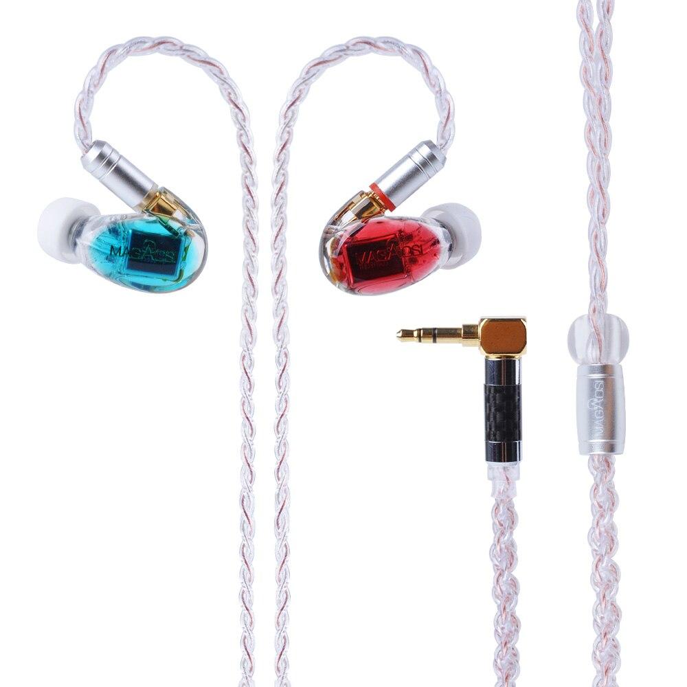 Magaosi K3-BA 3 Pilotes Armature Équilibrée In-Ear Écouteurs SALUT-FI DJ Écouteurs Écouteurs Boules Quies Avec MMCX Câble Détachable
