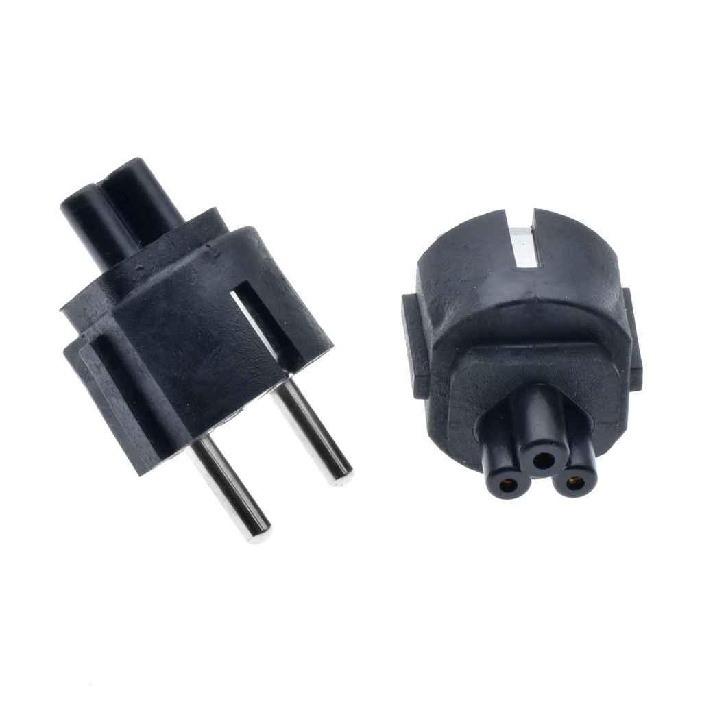 La UE CEE7 Cable de alimentación adaptador de enchufe de la UE para IEC320 C5 hoja de trébol adaptador de enchufe para el ordenador portátil cargador de enchufe de Shuko al adaptador de escritorio