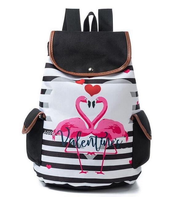 1 piece Colorful Unicorn Backpack For Women Drawstring Rucksack Teenager Girls Canvas School Bags Trendy Striped Travel Backpack | healthy feet socks