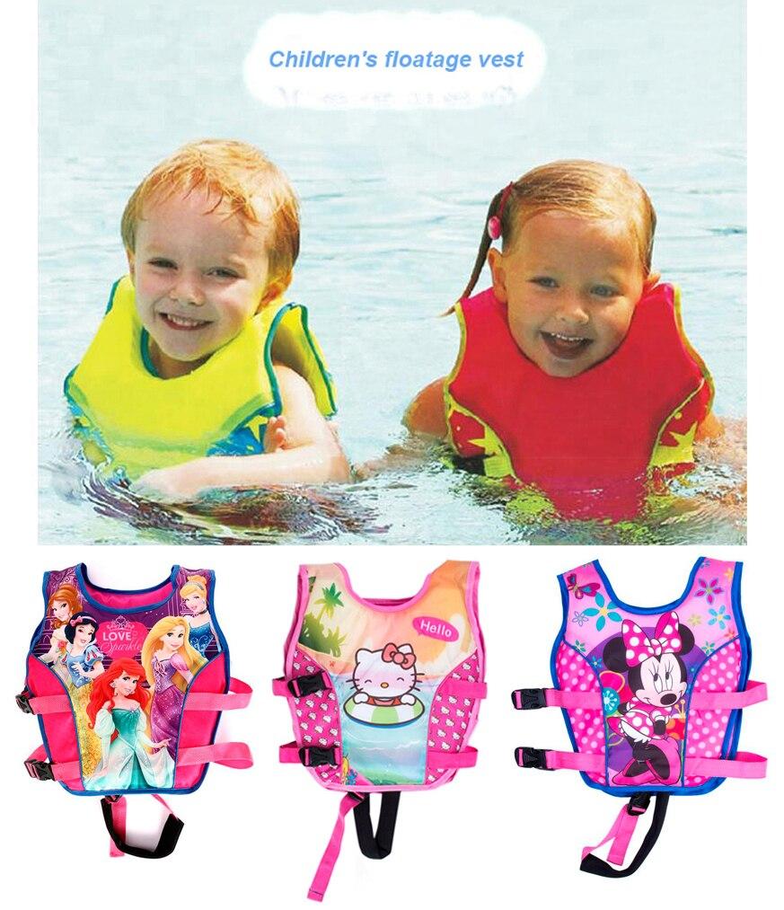 2 10Y Baby Float Vest Swim Trainer Kids Swim Vest Girls Life Jacket Swimsuit Swimwear Inflatable