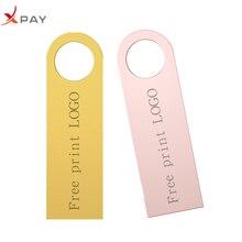 XPAY New keychain pen drive metal 2.0 mini 32GB high speed usb flash drive 64GB 16GB 8GB 4GB usb stick 128GB free print LOGO