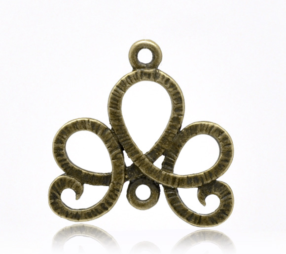 DoreenBeads Zinc Metal Alloy Connectors Findings Flower Vine Antique Bronze Color 21.0mm( 7/8