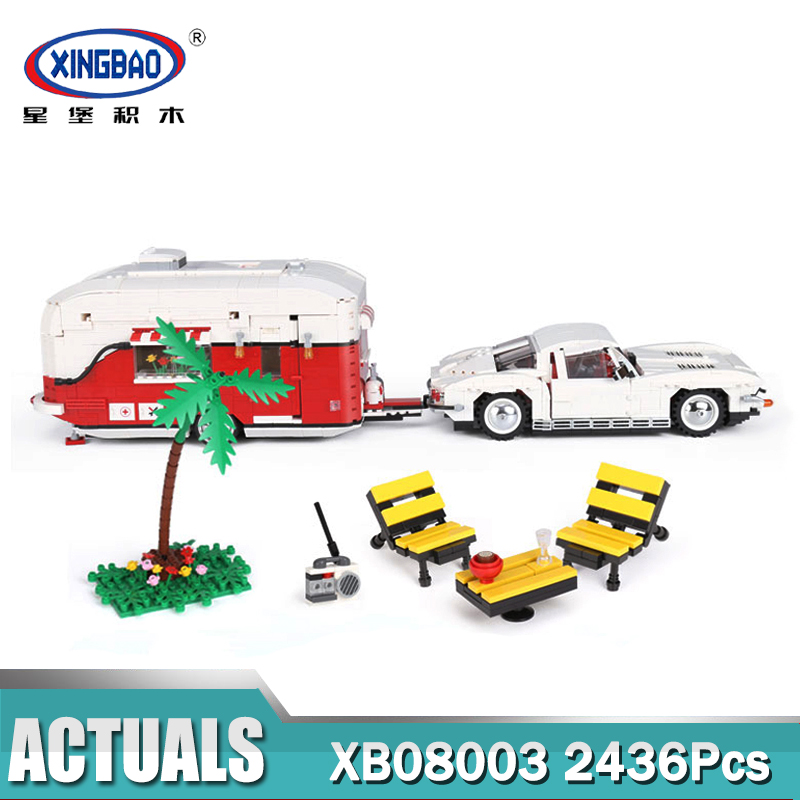 XingBao 08003 Creator MOC The Camper Set Children Educational Building Blocks Bricks Toys Gifts lepin creator home 17006 928pcs the red house set model 4000007 building kits blocks bricks educational toys for children gifts